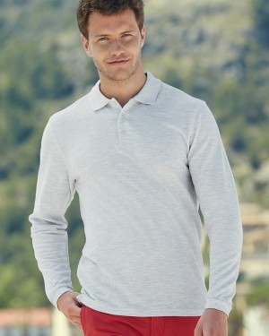 Fruit of the Loom Premium Long Sleeve Polo Shirts for Printing