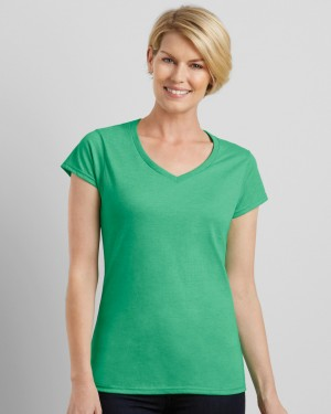 Gildan Softstyle Ladies V-neck Custom T-shirts