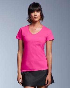 Anvil Women's Fashion Basic V-neck Tee for Printing