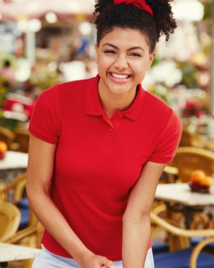 Fruit Of The Loom Lady Fitted Polo Shirts for Embroidery