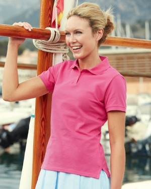 Fruit of the Loom Lady Fitted Custom Polo Shirts