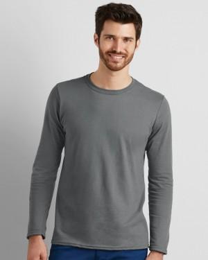 Gildan Softstyle Men's Long Sleeve Personalised T-shirts