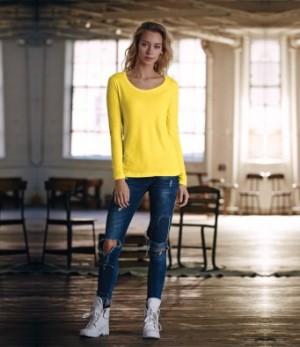 Anvil Ladies Long Sleeve Scoop Neck T-shirts